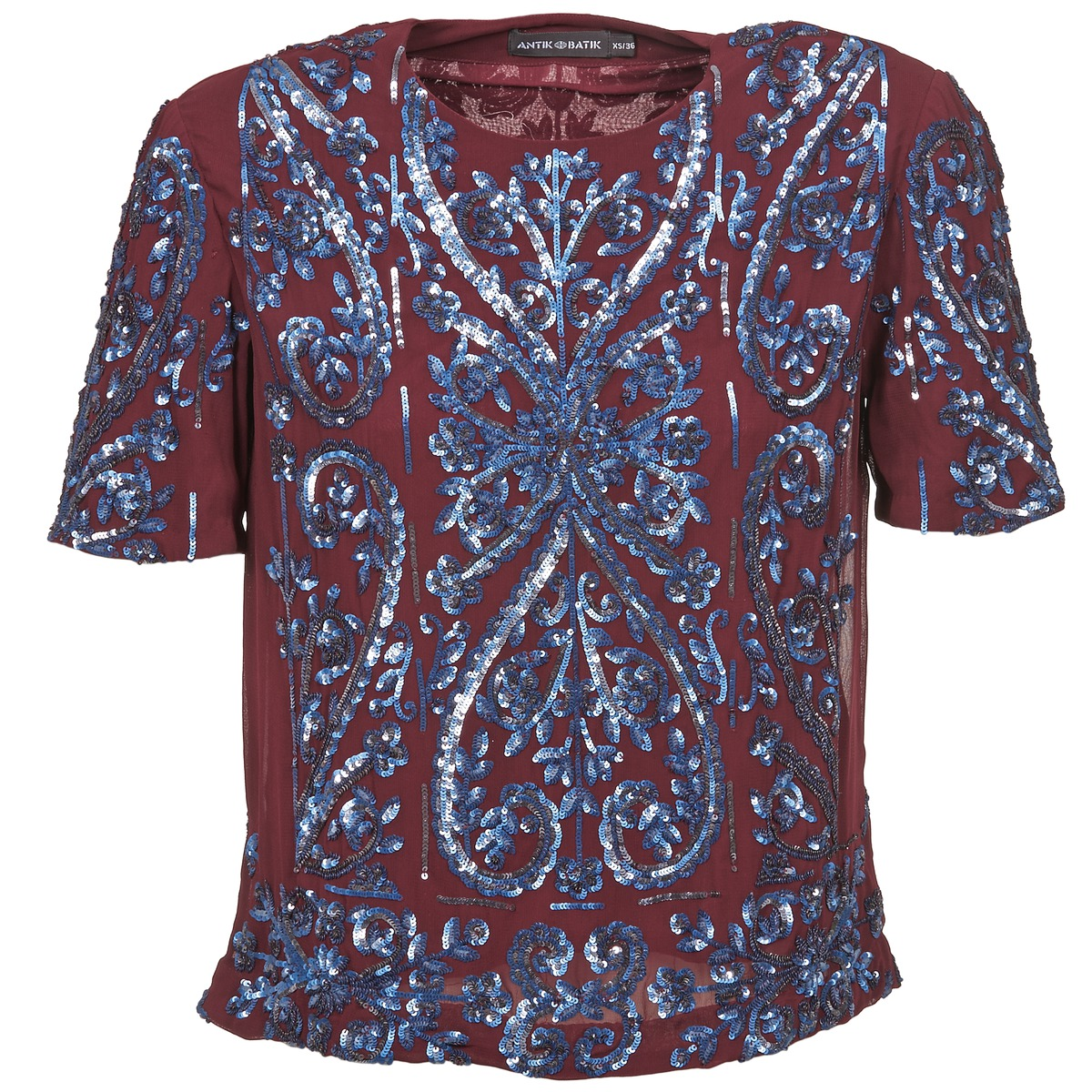 Bluser Antik Batik NIAOULI BORDEAUX