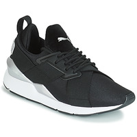 Sko Dame Lave sneakers Puma WN MUSE SATIN II.BLACK Sort