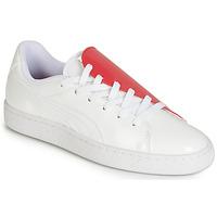 Sko Dame Lave sneakers Puma WN BASKET CRUSH.WH-HIBISCU Hvid