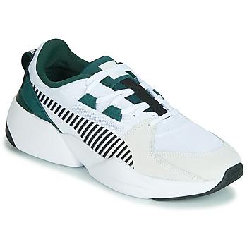 Sko Herre Lave sneakers Puma ZETA SUEDE.WHITE-PONDEROSA Hvid