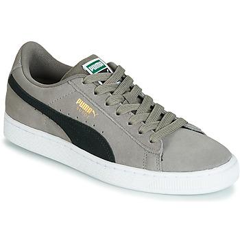 Sko Dreng Lave sneakers Puma JR SUEDE CLASSIC.CHARCO-BL Grå