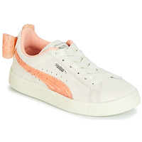 Sko Pige Lave sneakers Puma PS SUEDE BOW JELLY AC.WHIS Beige
