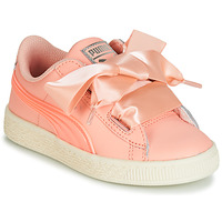 Sko Pige Lave sneakers Puma PS BASKET HEART JELLY.PEAC Pink