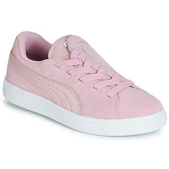 Sko Pige Lave sneakers Puma PS SUEDE CRUSH AC.LILAC Lilla