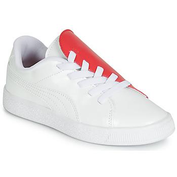 Sko Pige Lave sneakers Puma PS BKT CRUSH PATENT AC.W-H Hvid