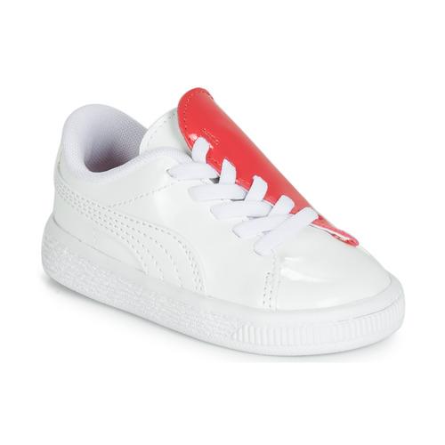 Sko Pige Lave sneakers Puma INF B CRUSH PATENT AC.W-H Hvid