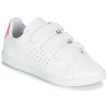 Sko Pige Lave sneakers Le Coq Sportif COURTSET PS Hvid / Pink