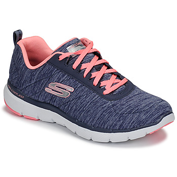Sko Dame Fitness / Trainer Skechers FLEX APPEAL 3.0 Marineblå / Pink
