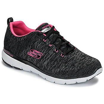 Sko Dame Fitness / Trainer Skechers FLEX APPEAL 3.0 Sort / Pink