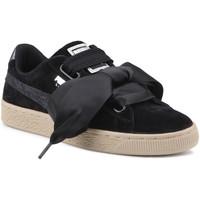 Sko Dame Lave sneakers Puma Lifestyle shoes   Suede Heart Safari Wns 364083 03 black