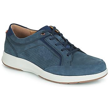 Sko Herre Lave sneakers Clarks UN TRAIL FORM Marineblå