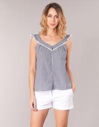 textil Dame Toppe / Bluser Betty London KORANE Sort / Hvid