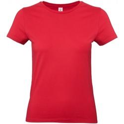textil Dame T-shirts m. korte ærmer B And C E190 Red