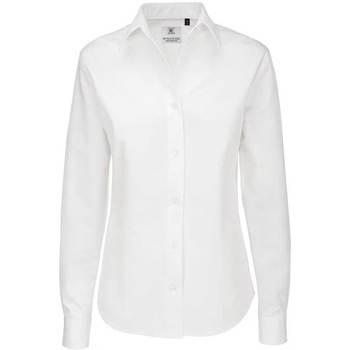 textil Dame Skjorter / Skjortebluser B And C SWT83 White