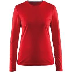 textil Dame Langærmede T-shirts Craft CT89F Red