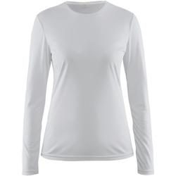 textil Dame Langærmede T-shirts Craft CT89F White