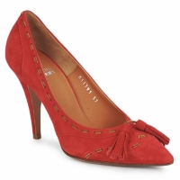 Sko Dame Pumps Michel Perry CAMOSCIO Rubin