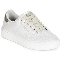 Sko Pige Lave sneakers Kappa SAN REMO KID Hvid / Sølv
