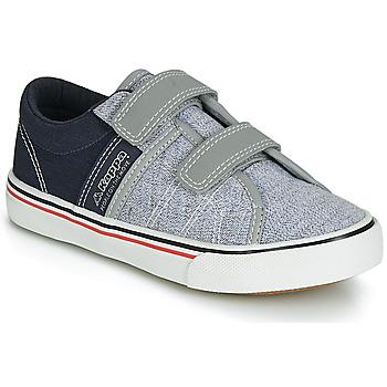 Sko Dreng Lave sneakers Kappa CALEXI V Grå / Marineblå