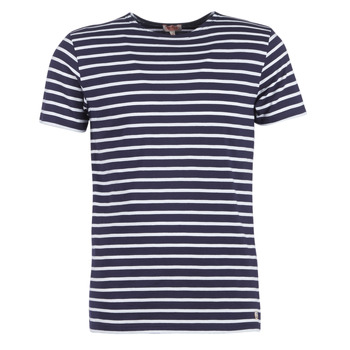 textil Herre T-shirts m. korte ærmer Armor Lux TALOPO Marineblå / Hvid