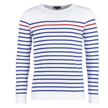 textil Herre Langærmede T-shirts Armor Lux YAYAYOUT Hvid / Blå / Rød