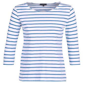 textil Dame Langærmede T-shirts Armor Lux YAYAROULE Hvid / Blå