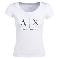 textil Dame T-shirts m. korte ærmer Armani Exchange HELIAK Hvid