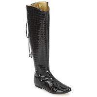 Sko Dame Chikke støvler French Sole PRINCE Sort