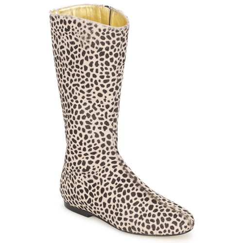 Sko Dame Chikke støvler French Sole PATCH Leopard