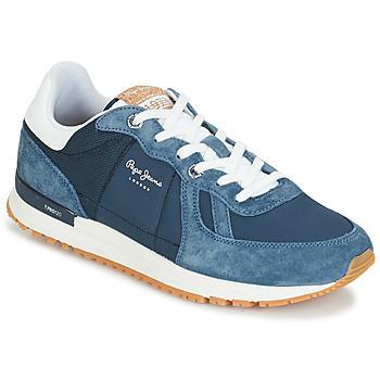 Sko Herre Lave sneakers Pepe jeans TINKER PRO Blå