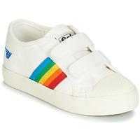Sko Børn Lave sneakers Gola COASTER RAINBOW VELCRO Hvid
