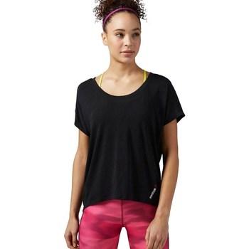 textil Dame T-shirts m. korte ærmer Reebok Sport One Series Burnout Sort