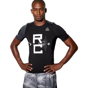 textil Herre T-shirts m. korte ærmer Reebok Sport Combat SS Rash Guard Sort, Grå