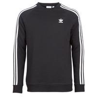 textil Herre Sweatshirts adidas Originals 3 STRIPES CREW Sort