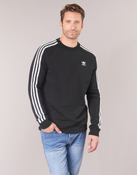 textil Herre Sweatshirts adidas Originals 3 STRIPES CREW Sort