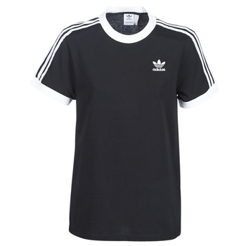textil Dame T-shirts m. korte ærmer adidas Originals 3 STRIPES TEE Sort