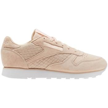 Sko Dame Lave sneakers Reebok Sport CL Lthr Woven Emb Beige, Pink