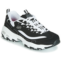 Sko Dame Lave sneakers Skechers D'LITES Sort / Hvid