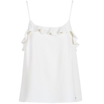 textil Dame Toppe / T-shirts uden ærmer Les Petites Bombes AZITAFE Hvid