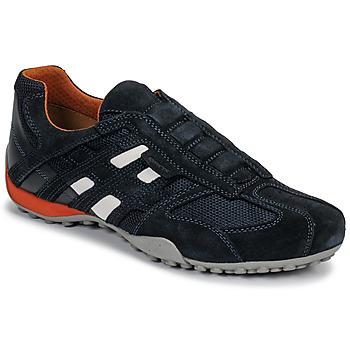 Sko Herre Lave sneakers Geox UOMO SNAKE Blå / Sort