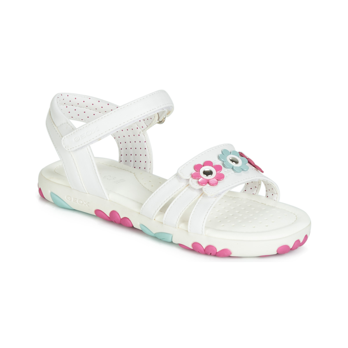 Se Sandaler til børn Geox  J SANDAL HAITI GIRL ved Spartoo