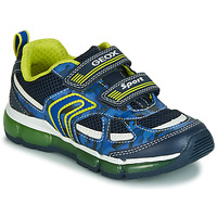 Sko Dreng Lave sneakers Geox J ANDROID BOY Marineblå / Gul / Led