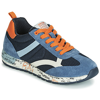 Sko Dreng Lave sneakers Geox J ALBEN BOY Marineblå / Orange