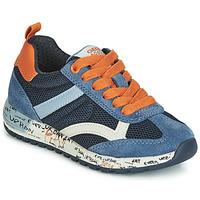 Sko Dreng Lave sneakers Geox J ALBEN BOY Marineblå / Orange