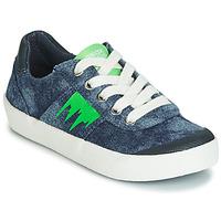Sko Dreng Lave sneakers Geox J KILWI BOY Blå / Grøn