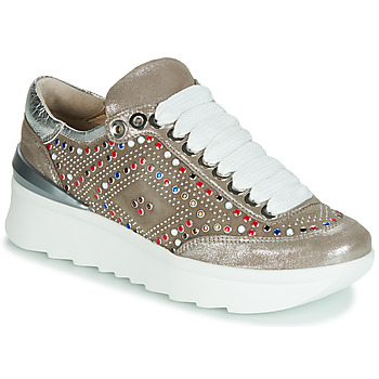 Sko Dame Lave sneakers Fru.it 5357-008 Beige / Pailleter