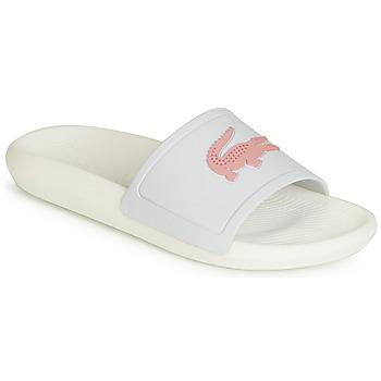 Sko Dame badesandaler Lacoste CROCO SLIDE 119 3 Hvid / Pink