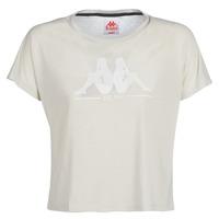 textil Dame T-shirts m. korte ærmer Kappa YERRI Beige / Grå
