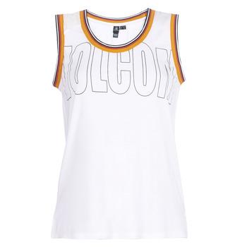 textil Dame Toppe / T-shirts uden ærmer Volcom IVOL TANK Hvid