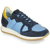 Sko Dame Lave sneakers Philippe Model MONACO VINTAGE BASIC Blå / Gul